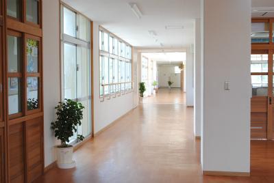 特別棟への渡り廊下