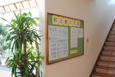 階段横の掲示板