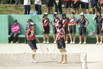 国頭地区中学校夏季総合体育大会(ソフトテニス部)   宜野座村立宜野座中学校